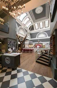 Zizzi royal Exchange Glasgow Interior Refit by Turret Developments